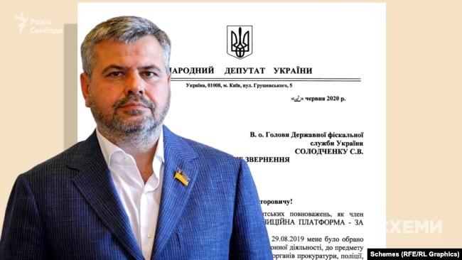 У червні цього року Григорій Мамка надіслав депутатське звернення до Державної фіскальної служби