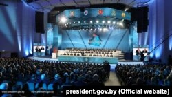 The congress was attending by some 2,700 delegates nominated by labor collectives in sync with state-controlled unions loyal to Lukashenka.
