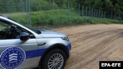 Возило на граничната агенција на Европската унија Фронтекс на границата на Литванија со Белорусија, 19 јули 2021 година