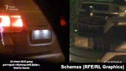 Серед інших, журналісти помітили те ж авто, яке за кілька днів перед тим знімали біля ресторану Tandyr, зареєстроване на «Київоблгаз»