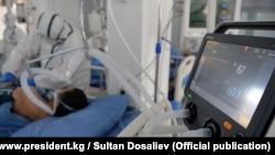 Пациент одной из больниц в Кыргызстане. Апрель 2021 года.