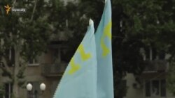 В Херсоне флаг шили два дня (видео)