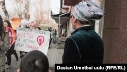Марш за права женщин, Ош. 8 марта 2021 года.