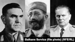 Ante Pavelić, Draža Mihailović i Josip Broz Tito