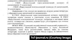 Фотокопия письма из Министерства образования Коми
