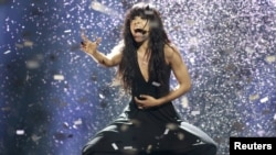 Sweden's Loreen, the winner of the 2012 Eurovision song Contest