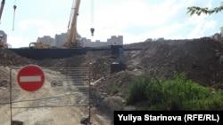 Единственное предупреждение о строительных работах в Николаевке.