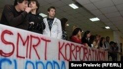 Protesti na Fakultetu političkih nauka u Podgorici