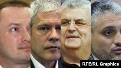 Bojan Pajtić, Boris Tadić, Nenad Čanak i Čedomir Jovanović