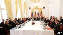 Joint Comprehensive Plan of Action (JCPOA), the Joint Commission is pictured during its first meeting at the level of Political Directors at Palais Cobourg in Vienna, October 19, 2015