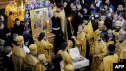 Дары Волхвов в Воскресенском Новодевичьем монастыре в Санкт-Петербурге