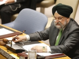 UN Security Council President Hardeep Singh Puri