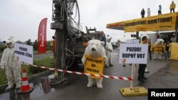 Заправочная станция Shell в Праге 13 сентября 2012 г.
