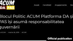 Blocul ACUM, conferinta de presa 26 martie 2019