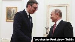 Олександр Вучич і Володимир Путін