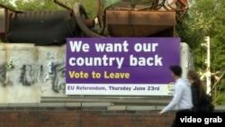 Агитация сторонников Brexit перед референдумом в Британии