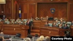 Kryetari i Parlamentit të Turqisë, Koksal Toptan, duke iu adresuar ligjvënësve kosovarë, 6 korrik '09.