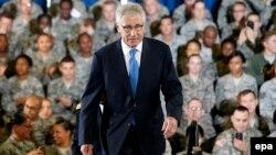Архивска фотографија: Американскиот секретар за одбрана Чак Хејгел.