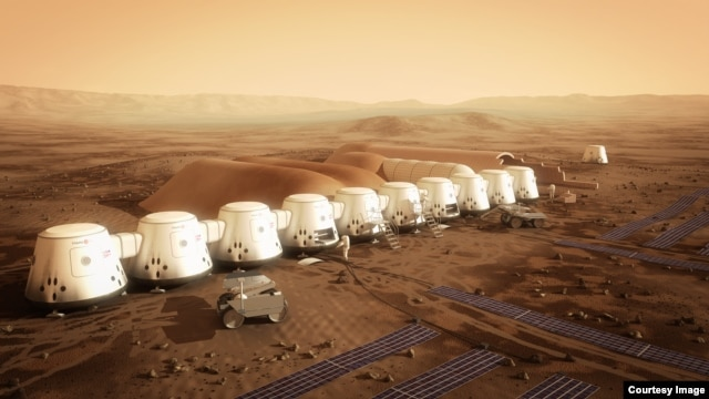 Another view of the proposed MarsOne colony