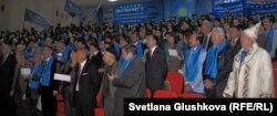 В зале внеочередного съезда партии «Адилет». Астана, 3 декабря 2011 года.