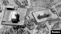 Супутникові фото розташування позицій командування сил IДІЛ у Сирії, надані Міноборони США