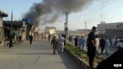 აფეთქების მიმდებარე ტერიტორია. პაკისტანი, 23 ივნისი