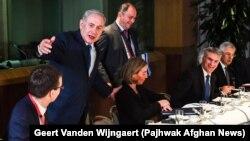 Нетаньяху на встрече с министрами иностранных дел Евросоюза, 11 декабря 2017 года.