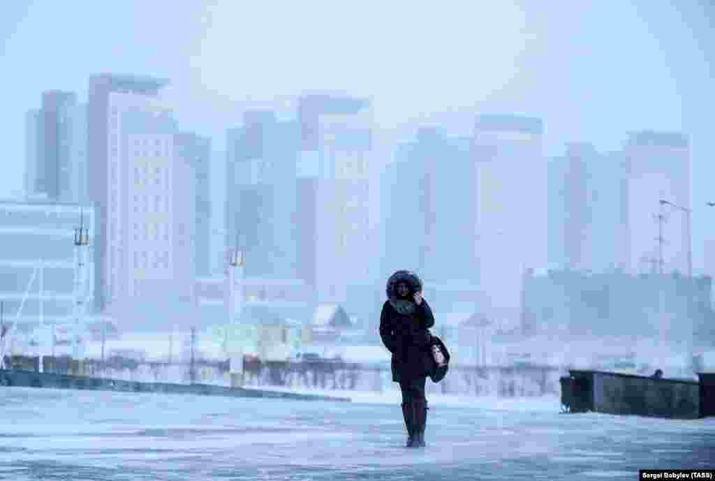 Among the biggest challenges for people relocating to Astana were the brutal winters -- only Mongolia's capital, Ulan Bator, is colder -- and the winds that drive in across the plains.