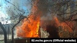 Пожар в Ялте, 26 января 2018 года