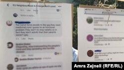Izložba sa jezikom mržnje protiv LGBT osoba u centru Prištine