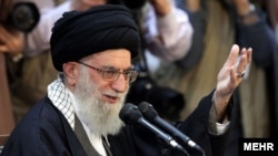 Iranian Supreme Leader Ayatollah Ali Khamenei at a recent event to mark the Persian new year