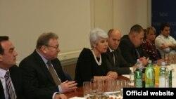 Čelništvo HDZ-a u susretu s novinarima, prosinac 2011.