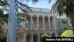 Abkhazia, Sukhumi: Palatul unde se află președintele și guvernul, 2016