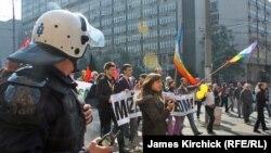Геј парадата во Белград 10 Октомври 2010