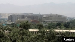 The U.S. Embassy building in Kabul