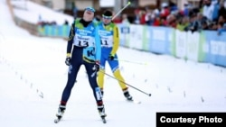 Қазақстандық шаңғышы Татьяна Осипова (13 нөмірде) он километрлік жарысты ұтып алды. Трентино, Италия, 12 желтоқсан 2013 жыл. Универсиада сайтындағы сурет.