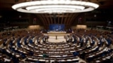 The Council of Europe is seen during a debate of the Parliamentary Assembly of the Council of Europe in Strasbourg, France