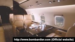 Интерьер самолета Bombardier Challenger 850. Иллюстративное фото