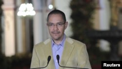Министр информации Венесуэлы Эрнесто Виллегас