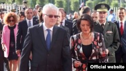Presidenti Josipoviq dhe presidentja Jahjaga, 6 shtator 2013
