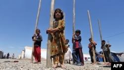Иракские дети в лагере для беженцев, 5 июня 2017 года