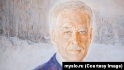 Aleksandr Nemtsov's painting of Boris Gryzlov