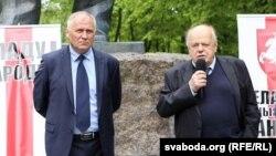 Станіслаў Шушкевіч і Мікола Статкевіч на Кангрэсе, 15 траўня 2016
