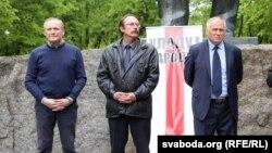 Уладзімер Някляеў, Вячаслаў Сіўчык і Мікалай Статкевіч, архіўнае фота
