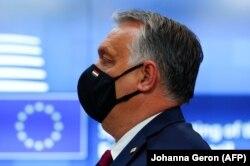 Orbán Viktor 2021. május 25-én Brüsszelben.