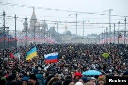 Багатотисячний марш Москвою пам'яті Нємцова. 1 березня 2015 року