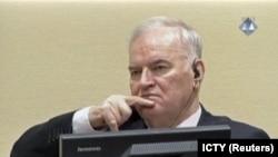 Ratko Mladić, tokom suđenja, 22. november 2017.