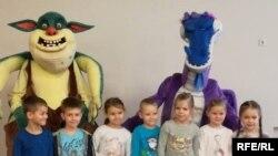 Діти на презентації мультфільму «Микита Кожум'яка», Рига