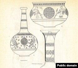 Раскошныя імпартныя шкляныя сасуды XI-XIII стагодзьдзяў з раскопак у Наваградку.