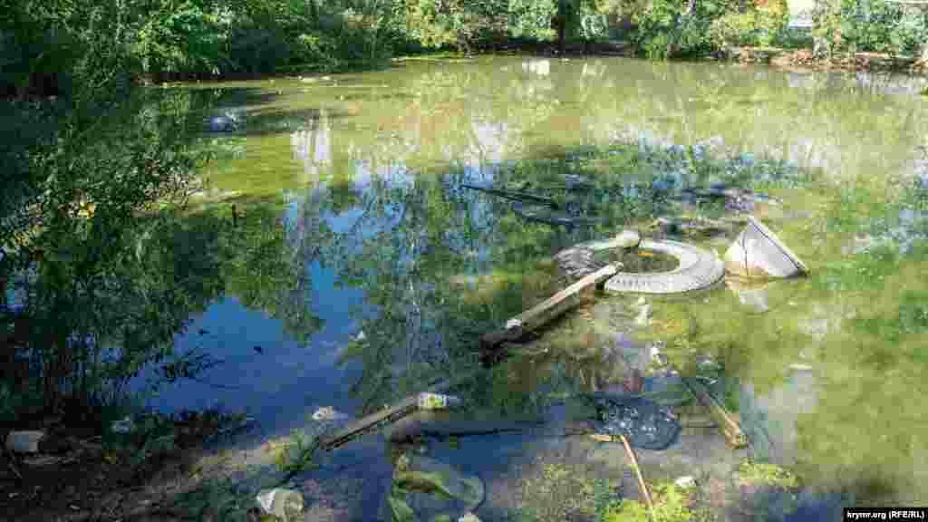 А ось ставок за дитячим садом «Джерельце» давно перетворився в болото і звалище. До речі, саме «Джерельце» зараз закрите через капітальний ремонт фундаменту